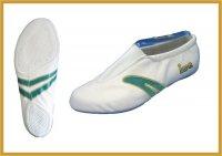 IWA Kunstturn-Schuh für Kinder  mit grünem...