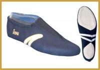 IWA Kunstturn-Schuh navy  mit weißem Streifen
