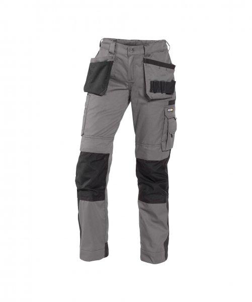 Zweifarbige Arbeitshose mit Holstertaschen und Kniepolstertaschen für Damen