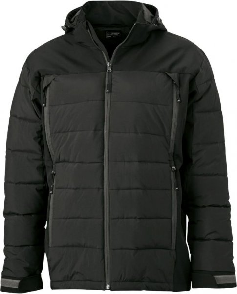 Mens Outdoor Hybrid Jacket, Thermojacke in attraktivem Materialmix