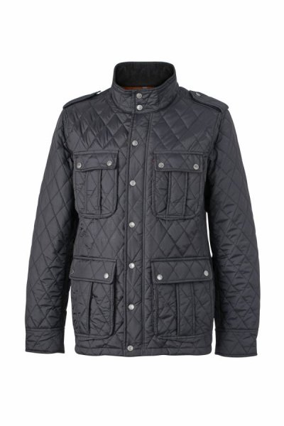 Mens Diamond Quilted Jacket, Modische Steppjacke für Business und Freizeit