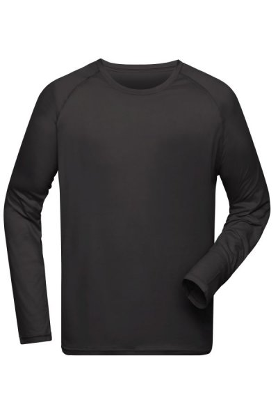 Mens Sports Shirt Long-Sleeved, Langarm Funktions-Shirt aus recyceltem Polyester für Sport und Fitness