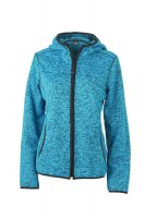 Ladies Knitted Fleece Hoody, Kapuzenjacke aus...