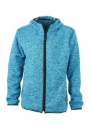 Mens Knitted Fleece Hoody, Kapuzenjacke aus Strickfleece...