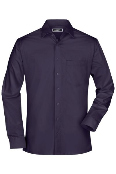 Mens Business Shirt Long-Sleeved, Bügelleichtes, modisches Herrenhemd