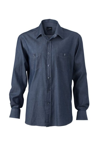 Mens Denim Shirt, Trendiges Jeanshemd