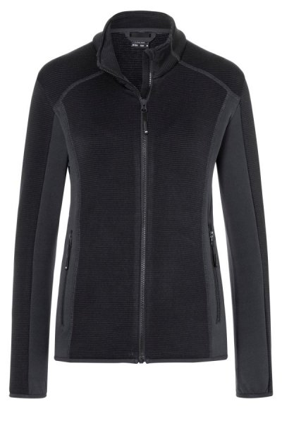 Ladies Structure Fleece Jacket, Stretchfleecejacke im sportlichen Look