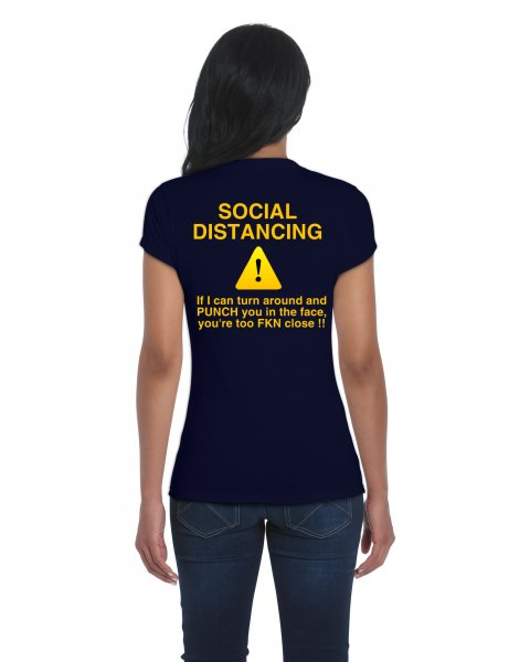 Damen T-Shirt SOCIAL DISTANCING